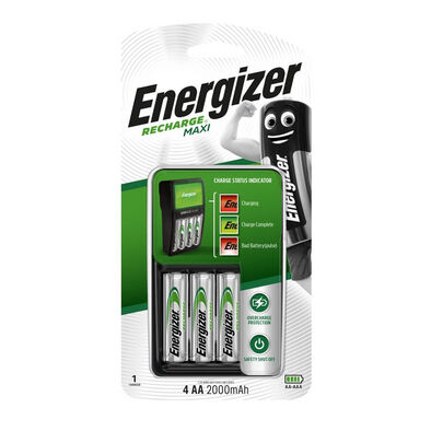 Energizer Value Charger With 2 Rechargable Batteries