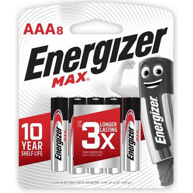 Energizer Max AAA Alkaline Batteries 8 Pack