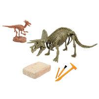 Uncle Milton Dr. Steve Hunters Triceratops Skeleton