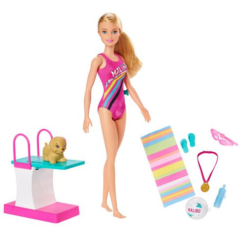 Barbie Dreamhouse Adventures Swim 'n Dive Doll and Accessories