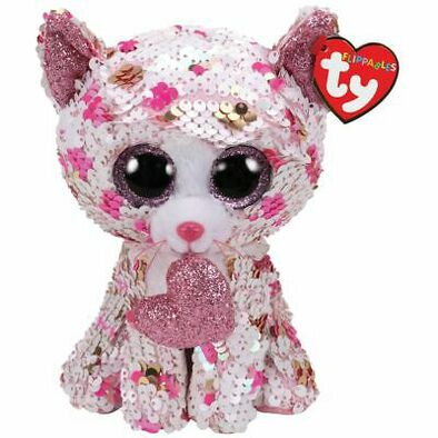 TY Flippables 13 Inch Cupid Polka Dot Cat