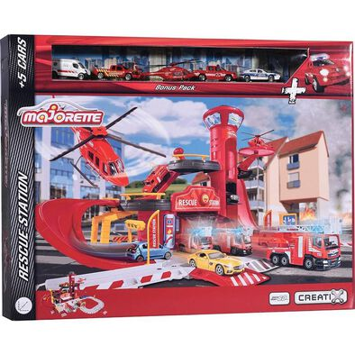 Majorette Creatix Rescue Station + 5 Vehicles