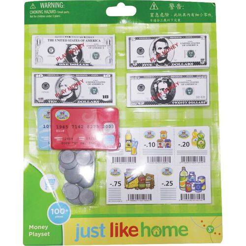Just Like Home Money Playset - Assorted