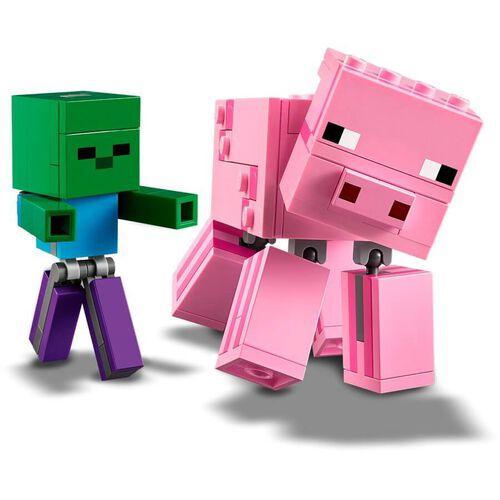 LEGO Minecraft BigFig Pig with Baby Zombie 21157