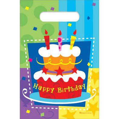 "Parties""R""Us Kord Birthday Cake 6'X 9' Loot Bags, 6 Pcs"