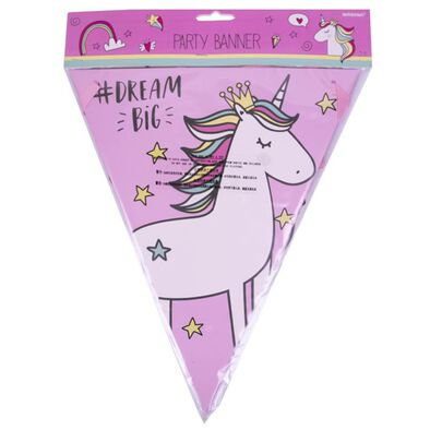 Amscan Party Flag Banner 3M Unicorn