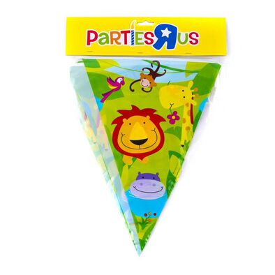 "Parties""R""Us Jungle Party Flag Banner (12 Inch)"