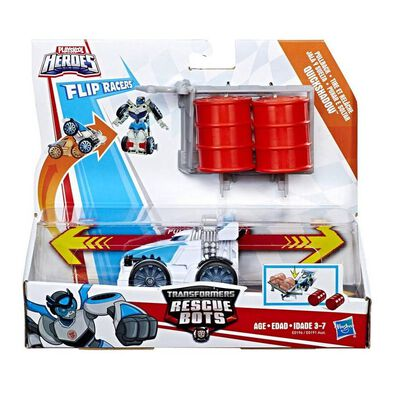 Playskool Heroes Transformers Rescue Bots Flipracer Pullback - Assorted