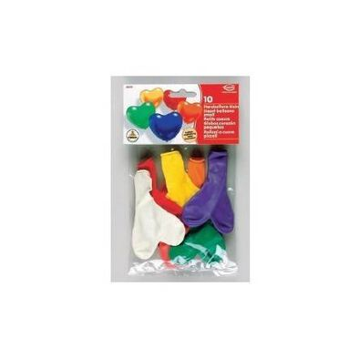 Everts 10 Pc - Assorted Heart Small Balloons