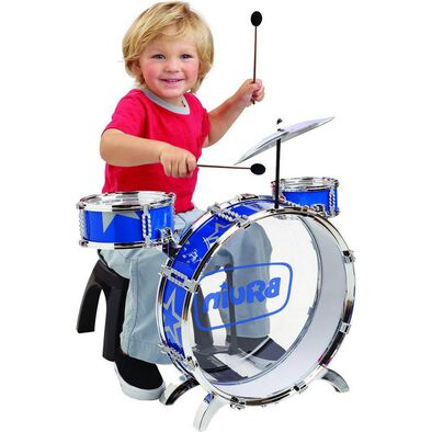 BRU Pre-School My First Drum Set With Chair