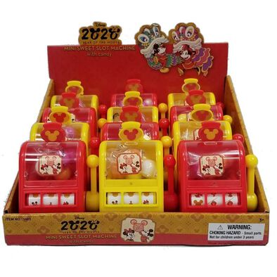 Disney Mickey Mini Slot Machine With Candy 19 Gram