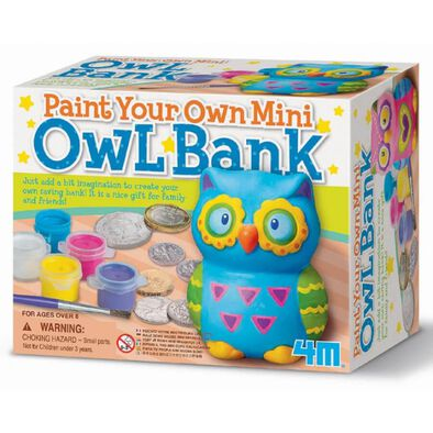 4M Paint Your Own Mini Owl Bank