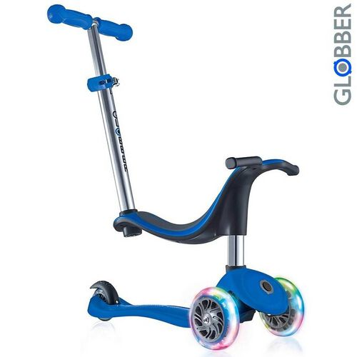 Globber Evo 4 In 1 Lights Navy Blue Scooter