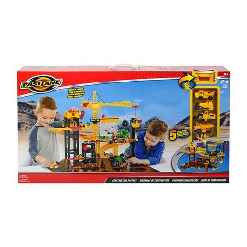 Fast Lane Construction Playset