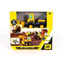 Cat Mix & Match 3 Pack Dump Truck, Bulldozer & Road Roller