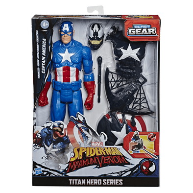 Marvel Spider-Man Venmized Captain America Blast Gear