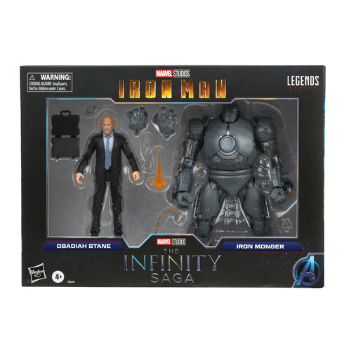 Marvel Legends Series 6 Inch Obadiah Stane And Iron Monger
