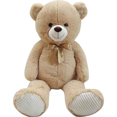 Animal Alley 100cm Beige Bear With Ribbon