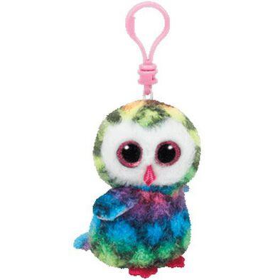 Ty Beanie Boos 5 Inch Clip Owen The Multicolored Owl