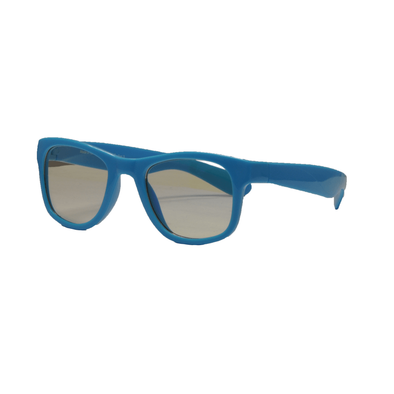 Real Shades Screen Shades With Pouch 2 Years Neon Blue Iconic Style Flexible Frame With Blue Light Yellow Lens