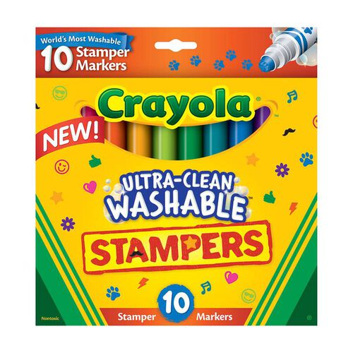 Crayola 10 Ultra-Clean Washable Stamper Markers