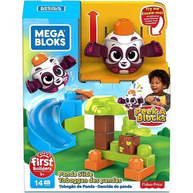 Mega Bloks First Builders Peek A Blocks Panda Slide