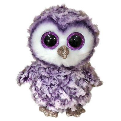 Ty Beanie Boos 6 Inch Regular Size Moonlight Purple Owl