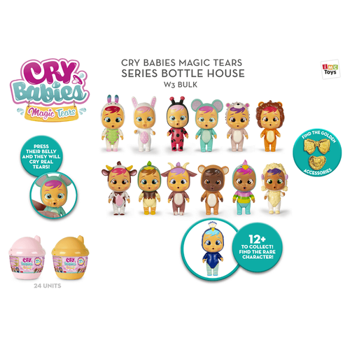 Cry Babies Bottle House Wave 3 - Assorted