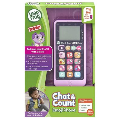 LeapFrog Chat and Count Emoji Phone Purple