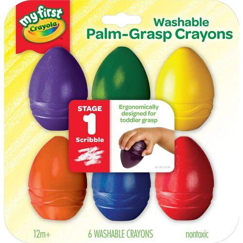 Crayola 6 Colours Washable Palm Grasp Crayons