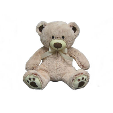 Animal Alley 12 Inch Two-Tone Bear With Ribbon