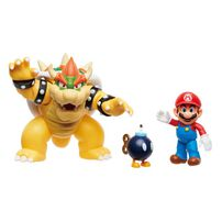 Nintendo Super Mario Mario Vs Bowser Diorama Set