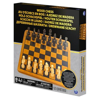 Spin Master Wood Chess Set