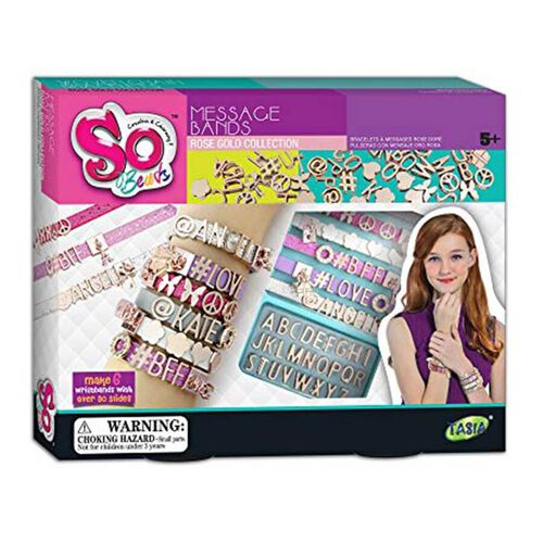 So Beads Message Bands Rose Gold Collection