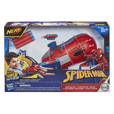 NERF Power Moves Marvel Spider-Man Web Blast Web Shooter