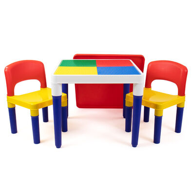 Universe Of Imagination - 2-In-1 Building Block Table With Chair