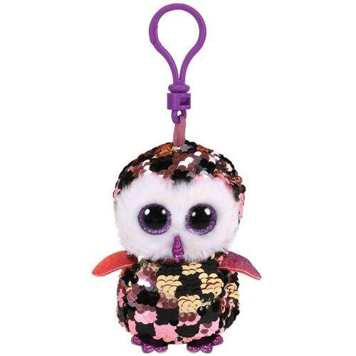 Ty Flippables Checks Multicoloured Owl Sequin Clip
