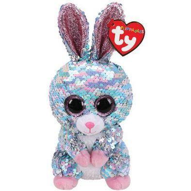 Ty Flippables 6 Inch Regular Size Raindrop Blue Bunny