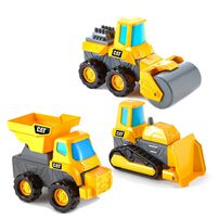 Cat Mix & Match 3 Pack Dump Truck, Bulldozer & Road Roller