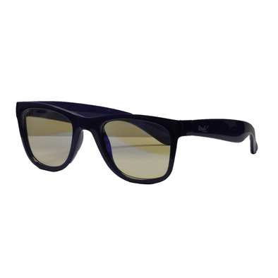 Real Shades Screen Shades With Pouch 7 Years Shiny Blue Iconic Style Flexible Frame With Blue Light Yellow Lens
