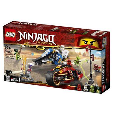 LEGO Ninjago Kai's Blade Cycle and Zane's Snowmobile 70667