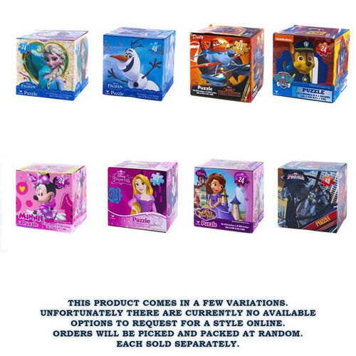 Disney Puzzle In A Cube For Boys And Girls - Assorted