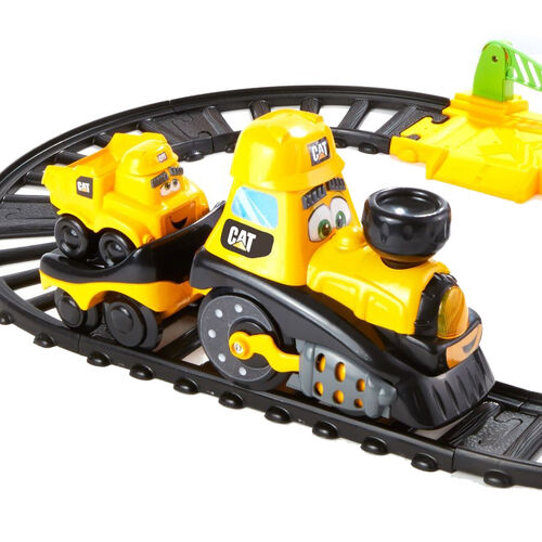 Cat Junior Crew Power Tracks Friends Train Set