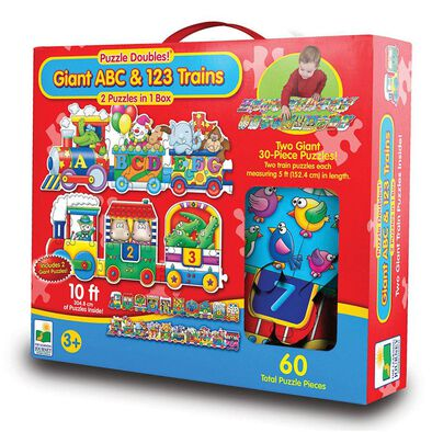 The Learning Journey Puzzle Doubles Giant Abc/123 Train
