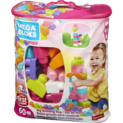 Mega Bloks First Builders Big Building Bag Pink 60 Pieces