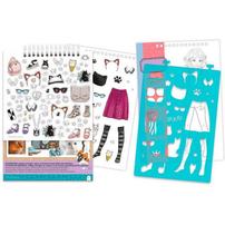 Make It Real Fashion Design Sketchbook: Pretty Kitty