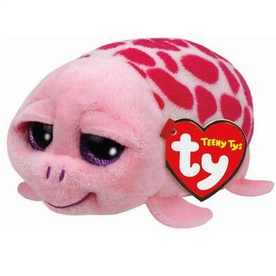 Ty Teeny Shuffler Pink Turtle Soft Toy