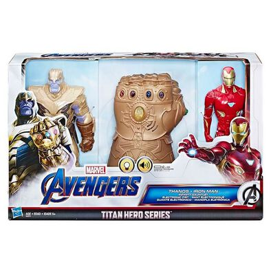 Marvel Avengers Titan Hero Series Thanos and Iron Man