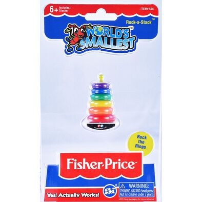World's Smallest Fisher-Price Rock -A- Stack