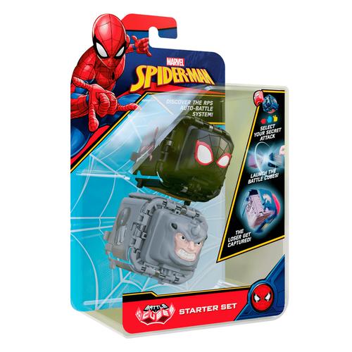 Marvel Spider-Man Battle Cube Miles Morales vs. Rhino 2 Pack